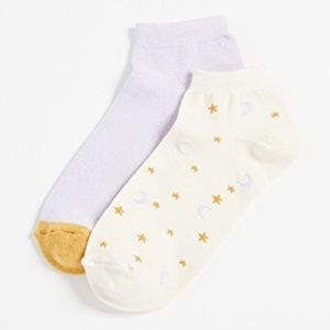 Madewell Two-pack Starry Night Anklet Socks NWT